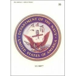 1991 Topps Desert Storm Sticker U.S. NAVY #20