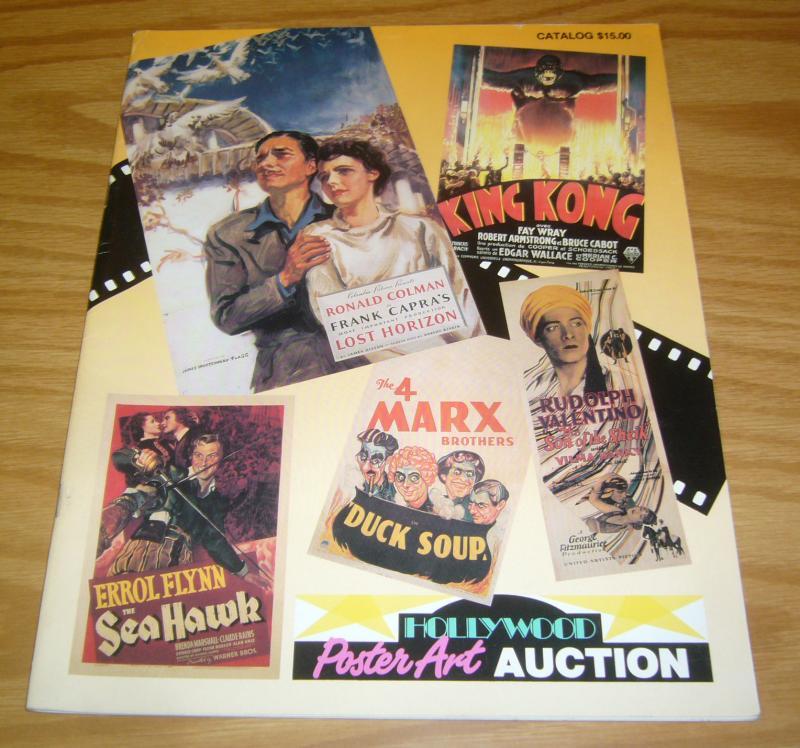 Hollywood Poster Art Auction Catalog 1992 FN king kong - duck soup - sea hawk