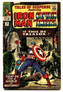 TALES OF SUSPENSE #70 comic book  1965-IRON MAN-CAPT AMERICA-NAZI cvr