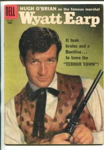 WYATT EARP #860 1957-DELL-FOUR COLOR-HUGH O'BRIAN-BUNTLINE SPECIAL-1ST ISSUE-vg