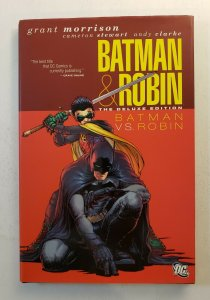 BATMAN & ROBIN THE DELUXE EDITION BATMAN VS. ROBIN HARD COVER FIRST PRINT