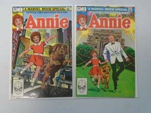 Annie set #1+2 8.0 VF (1982)