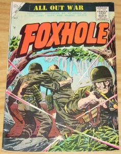 Fox Hole #7 FN- march 1956 - produced by army/navy/marine corps veterans - kirby