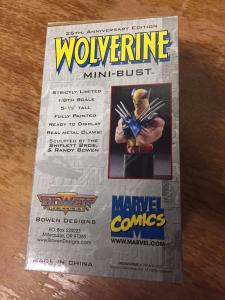 Wolverine Mini Bust X-Men Bowen Designs Statues #'d In  Box Marvel Hulk 181 TWT1