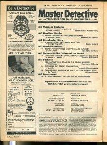 Master Detective 6/1987- spicygun moll-crime pulp thrills-spanked to death-VG