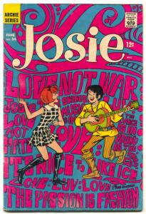 Josie #34 1968- hippy psychedelic cover- Archie comics VG