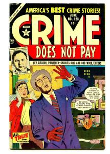 CRIME DOES NOT PAY #123 1953-LEV GLEASON-CHARLES BIRO-FN