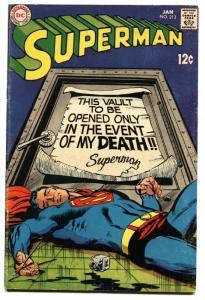 SUPERMAN #213 1969- DC Silver Age- comic book FN