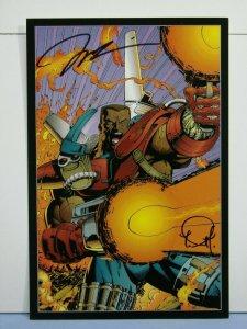 1993 Wildstorm Stormwatch Art Portfolio Print SIGNED JIM LEE TREVOR SCOTT W/ COA