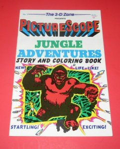 1987 Jungle Adventures #3 NM 3D Comic Book Story and Coloring Book With Glasses
