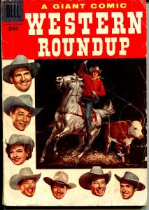 Western Roundup #16 1956-Dell Giant Edition-Dale Evans-Russ Manning-G