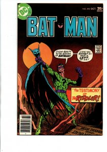 Batman #292 newsstand - Testimony of Riddler - 1977 - (-Very Fine)