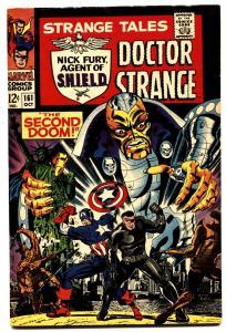 STRANGE TALES #161 comic book 1967-NICK FURY/DR. STRANGE-MARVEL VF+