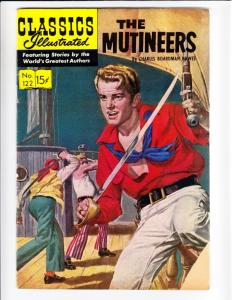 Classics Illustrated #122 (Sep-54) VG Affordable-Grade The Mutineers