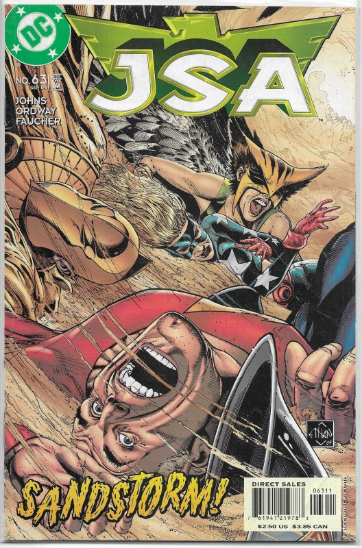 JSA   vol. 1   #63 GD (Waking the Sandman 1)