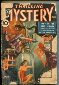 THRILLING MYSTERY 03/1940-WEIRD MENACE-PULP-ALEX SCHOMBURG-ZOMBIE-fr