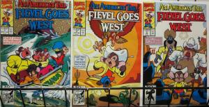 AMERICAN TAIL FIEVEL GOES WEST (1992) 1-3 complete set!