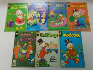 Bronze age Whitman Uncle Scrooge comic lot 7 different issues 4.0 VG