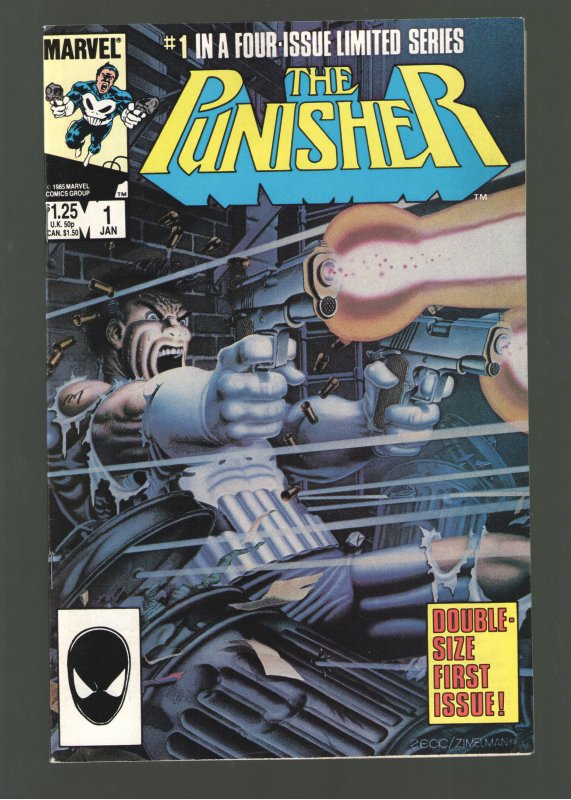 Punisher #1-5(mini-series);VF/NM 9.0;Classic Zeck cover!