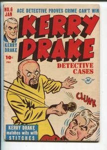Kerry Drake Detective #6 194-Harvey-Stitches-Bob Powell-Lady crime-horror-VG/FN