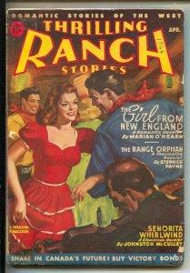 Thrilling Ranch Stories 4/1946-Senorita Whirlwind-1st Johnston McCulley-Elu...