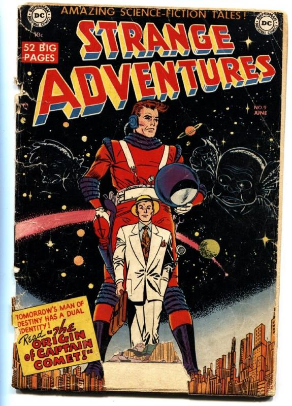 Strange Adventures #9 1951-DC-sci-fi thrills-1st appearance of Captain Comet