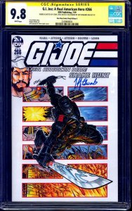 G.I. Joe #266 VARIANT CGC SS 9.8 signed ORIGINAL Shipreck Sketch signed x2 LYDIC