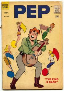 Pep #141 1960--Archie ELVIS parody cover- Betty & Veronica RARE