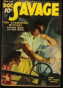 DOC SAVAGE 1938 JUN-RARE STREET AND SMITH PULP VG