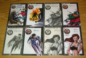 Powers That Be #1-6 & Star Seed #7-9 VF/NM complete series + (3) preview set lot