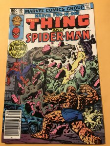MARVEL TWO-IN-ONE #90 : 8/92 Fn; The Thing & Spider-Man, Wizard fight
