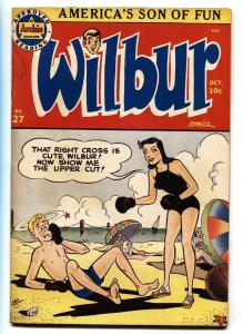 WILBUR COMICS #27-BOXING SWIM SUIT COVER-ARCHIE VF