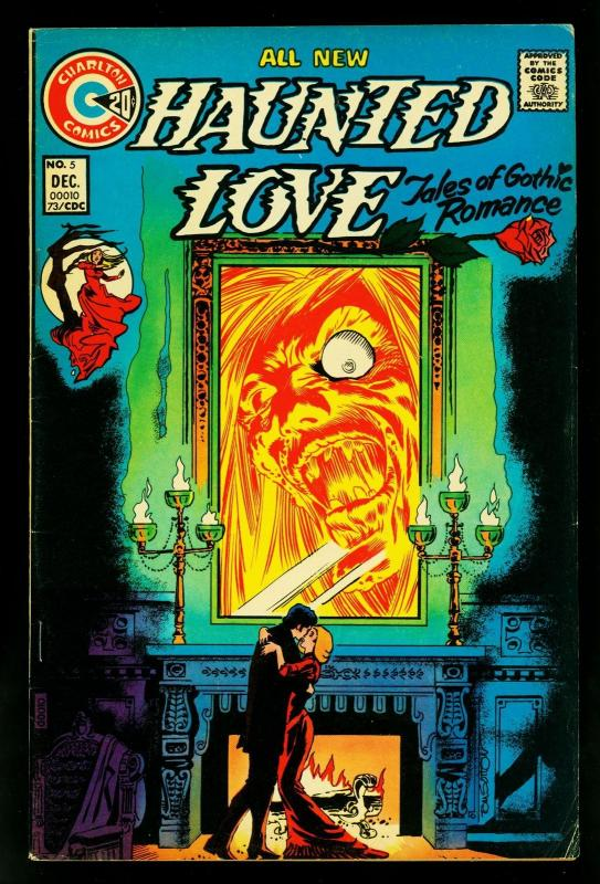 Haunted Love #5 1973- Charlton Comics- Gothic stories- Nick Cuti- FN