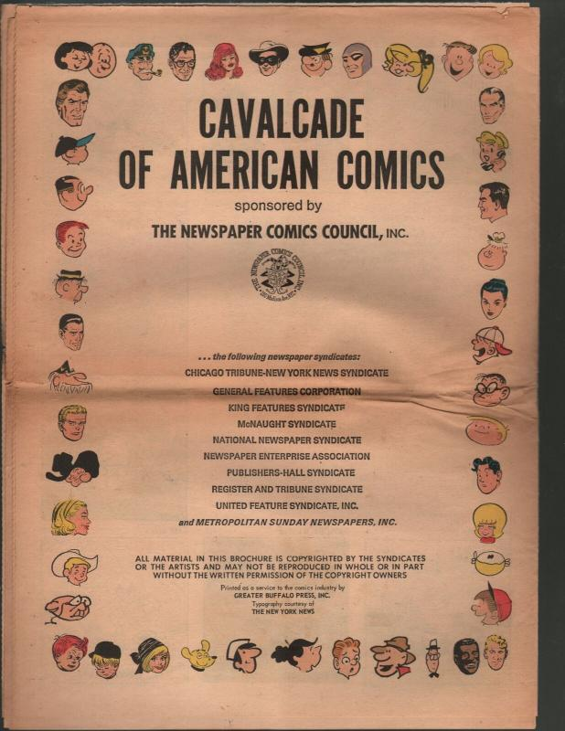 Cavalcade of American Comics New, Revised Edition 1970-from 1896 -Dick Tracy-VG