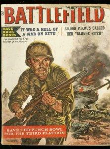 BATTLEFIELD MAG MAY 1959-WAR STORIES-SPICY PULP ART- FR