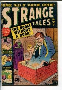 STRANGE TALES #5 1952-ATLAS-JOE MANEELY HORROR COVER-GROTESQUE-vg minus