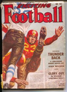 Exciting Football-Fall 1951-Thrilling-punter cover-All-American selections-pu...