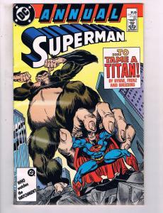 Superman Annual #1 VF DC Comics To Tame A Titan Comic Book Byrne 1987 DE13