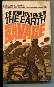DOC SAVAGE-THE MAN WHO SHOOK THE EARTH-#43-ROBESON-G-BAMA COVER G