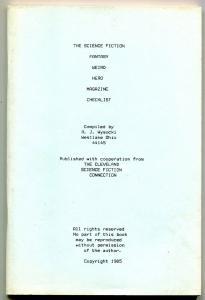 Science Fiction Fantasy Weird Hero Pulp Magazine Checklist 1988