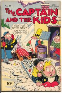 Captain and The Kids #29 1953-United-violent slapstick humor-VG/FN