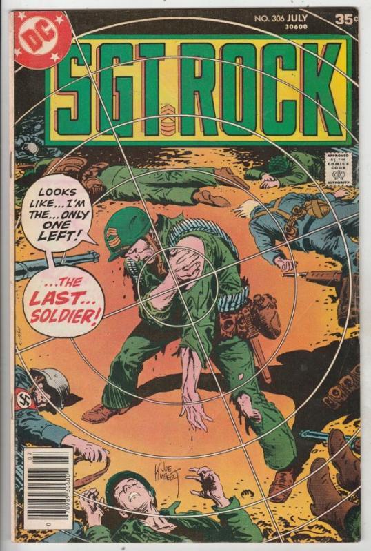 Sgt. Rock #306 (Jul-77) VF High-Grade Sgt. Rock, Easy Co.