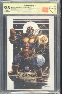 Thanos Legacy #1 Perez Virgin Cover CBCS 9.8 signed Perez, Duggan, Cates