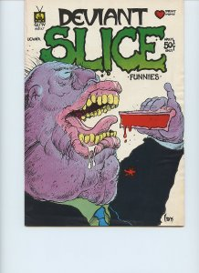 DEVIANT SLICE FUNNIES #1 / Only Printing / March, 1972 / The Print Mint