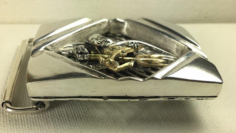 Seal Team 6 sterling silver Gents Belt buckle