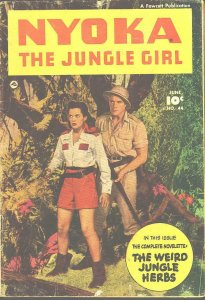 NYOKA JUNGLE GIRL #44 MOVIE PHOTO COVER  1950 FAWCETT VG