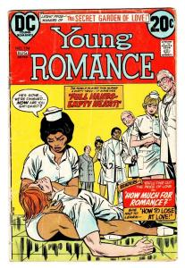 Young Romance #194 comic book 1973- Interracial Romance-Nurse cover DC