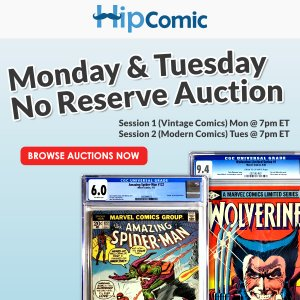 The 203rd HipComic No Reserve Auction Event