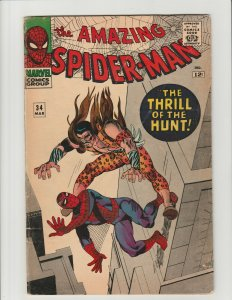 Amazing Spider-Man #34 (Marvel 1966) Early Kraven the Hunter VG Complete