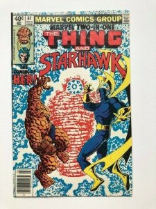 MARVEL Two in one THE THING and STARHAWK #61 1st app of HER-key issueFINE+(A291)
